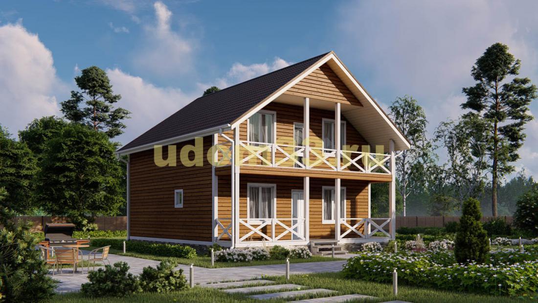 Дом из бруса 8.5х10 под ключ. Проект ДБ-3