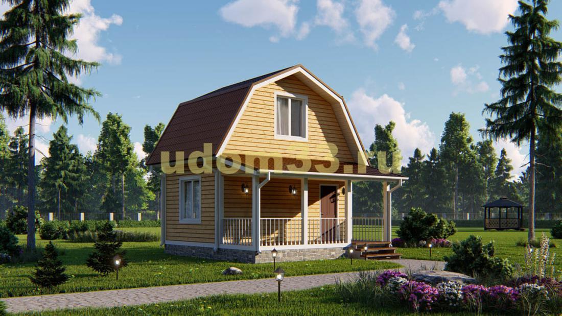Каркасный дом 6х6 эконом класса. Проект ДК-29