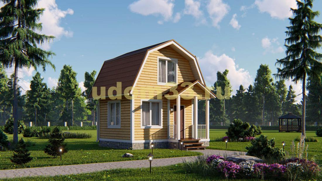 Небольшой каркасный дом 5х5. Проект ДК-33