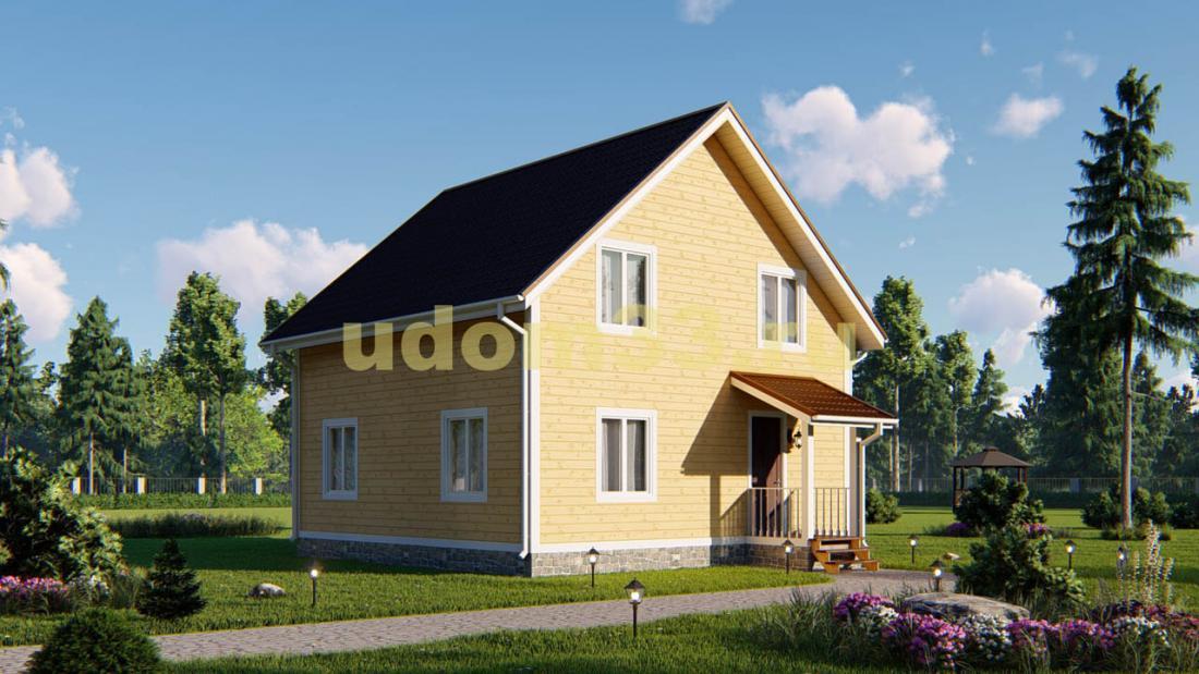 Классический двухэтажный каркасный дом. Проект ДК-86 «Классик»
