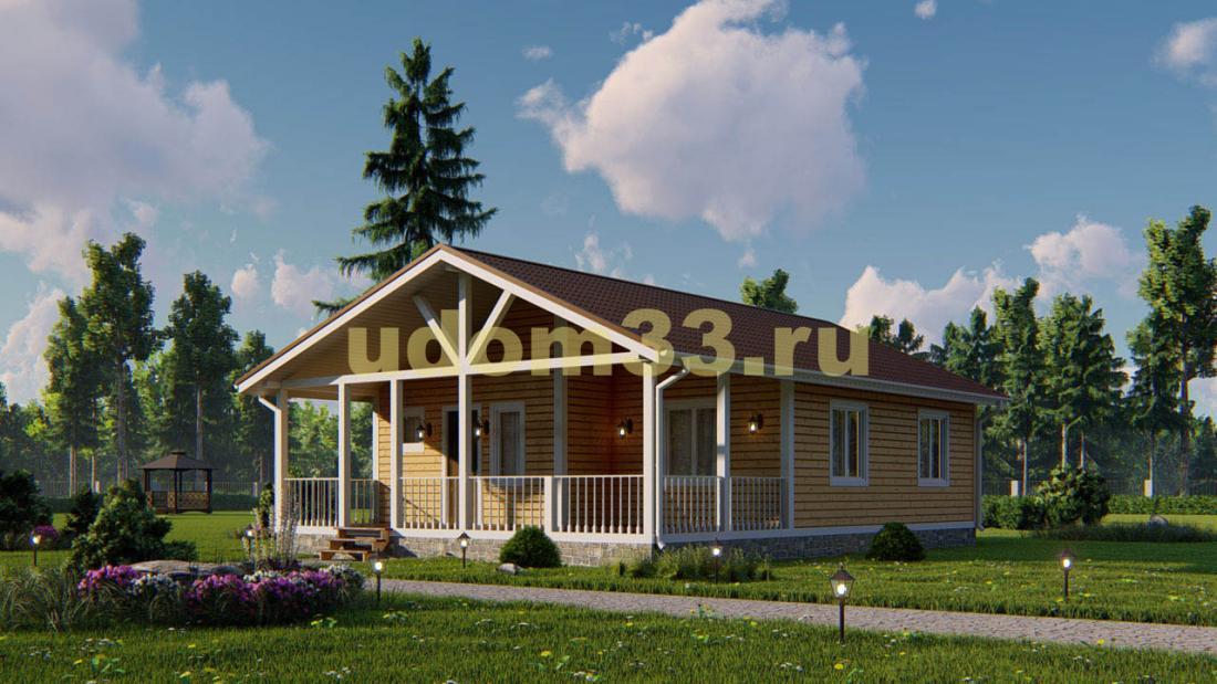 Одноэтажный каркасный дом 9х12. Проект ДК-96 «Поэт»