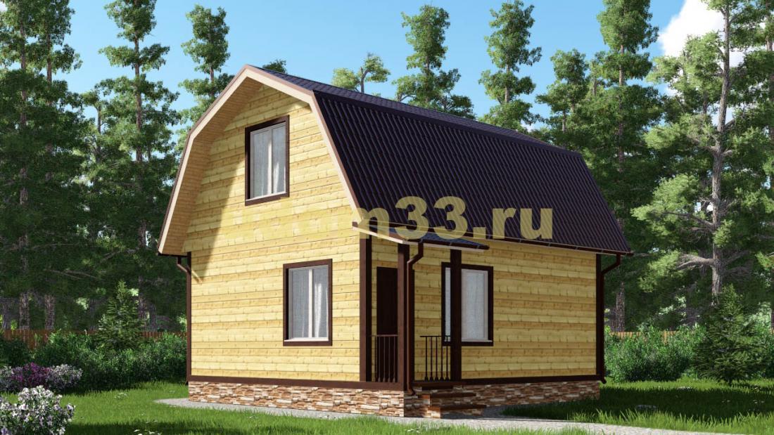 Дачный дом 7.2х7.4 под ключ. Проект ДКД-18