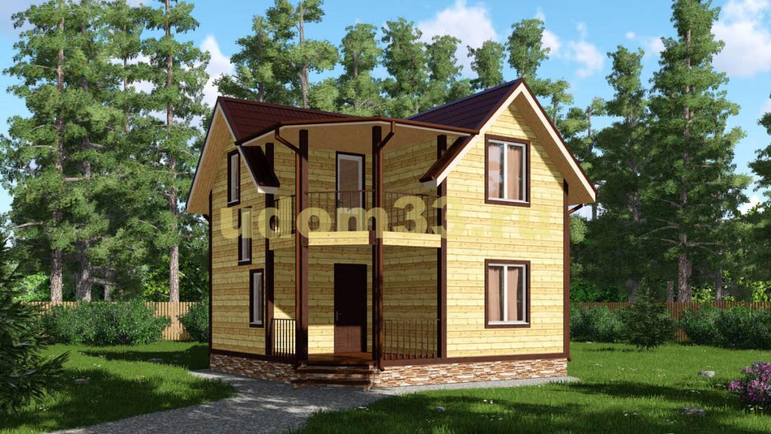 Дачный дом 7х7 под ключ. Проект ДКД-27