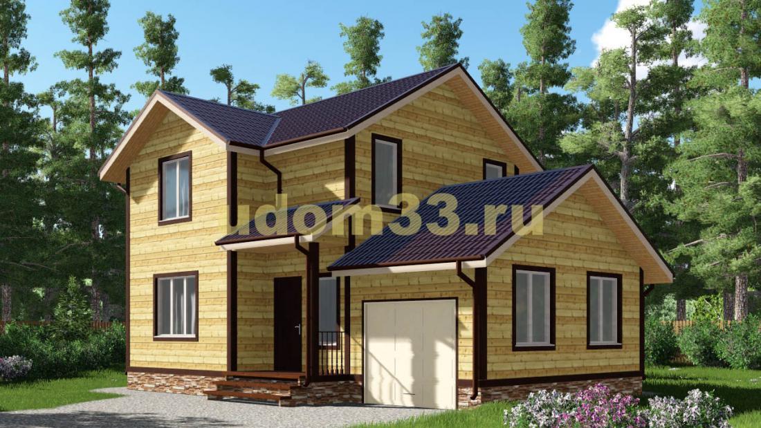 Дачный дом 7х10.8 под ключ. Проект ДКД-3