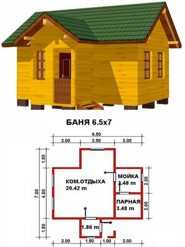 Баня под ключ во Владимире. Цена: 600 000 рублей