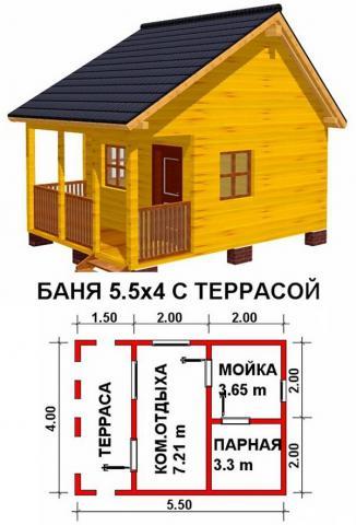 Баня под ключ во Владимире. Цена: 375 000 рублей