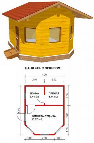 Баня под ключ во Владимире. Цена: 345 000 рублей