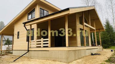 Строительство каркасного дома в ДПК Лесной хуторок Александровского района Владимирской области