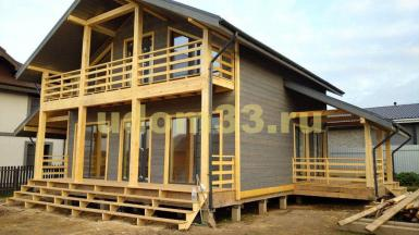 Строительство каркасного дома в п. Огниково Истринского района Московской области