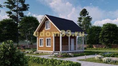 Дом из бруса 6х6 под ключ. Проект ДБ-10