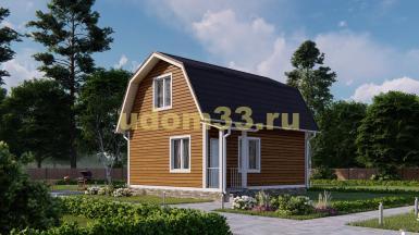 Дом из бруса 7.2х7.4 под ключ. Проект ДБ-15