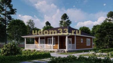Дом из бруса 11.7х12 под ключ. Проект ДБ-2