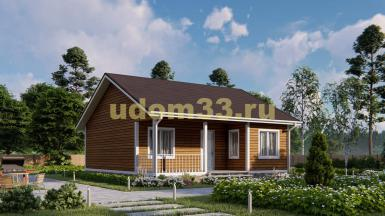 Дом из бруса 9х10 под ключ. Проект ДБ-24