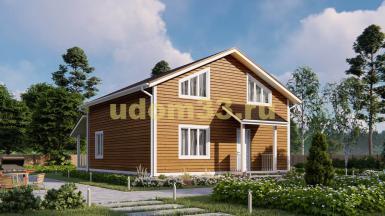 Дом из бруса 9х11.8 под ключ. Проект ДБ-27