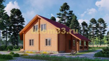 Дом из бревна 10х14 под ключ. Проект ДБР-25