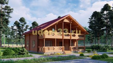 Дом из бревна 11.4х11.5 под ключ. Проект ДБР-6