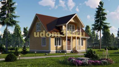 Каркасный дом 7х10 под ключ. Проект ДК-1