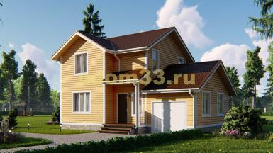 Каркасный дом 7х10.8 с гаражом. Проект ДК-10