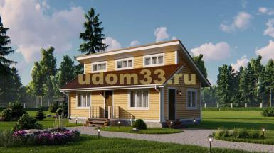 Каркасный дом 5х10. Проект ДК-108 «Янтарный»