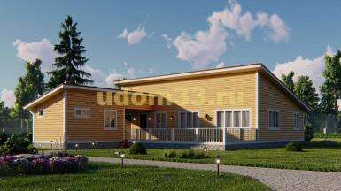 Большой одноэтажный каркасный дом 14х20.4 с сауной. Проект ДК-112 «Егорьевск»