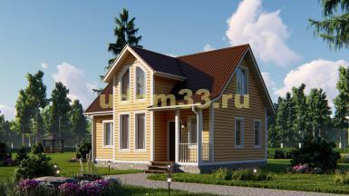 Уютный каркасный дом 7х9. Проект ДК-16