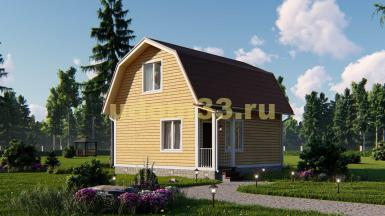 Каркасный дом 7.2х7.4. Проект ДК-35