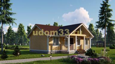 Каркасный дом 8х10. Проект ДК-38