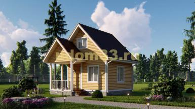 Каркасный дом 6х6.5 с мансардой. Проект ДК-46