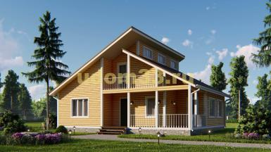 Двухэтажный каркасный дом 10х12. Проект ДК-51