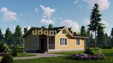 Одноэтажный каркасный дом 9х11. Проект ДК-56