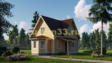 Каркасный дом с мансардным этажом. Проект ДК-71 «Рассвет»