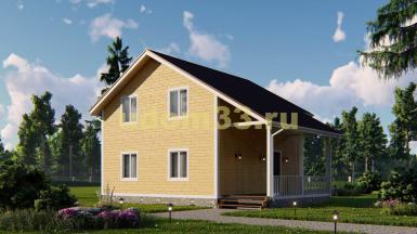 Двухэтажный каркасный дом 8х10. Проект ДК-76 «Ода»