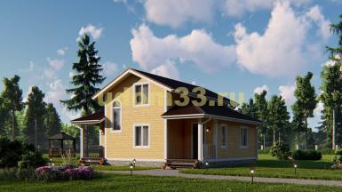 Двухэтажный каркасный дом. Проект ДК-84 «Варяг»