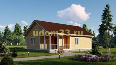 Одноэтажный каркасный дом под ключ. Проект ДК-85 «Эталон»
