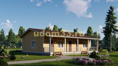 Одноэтажный каркасный дом на две семьи. Проект ДК-87 «Престиж»