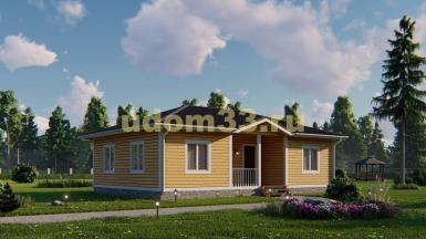 Одноэтажный каркасный дом 8х12. Проект ДК-93 «Коломна»