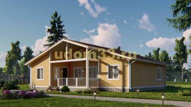 Одноэтажный каркасный дом 12.6х13. Проект ДК-94 «Рязань»