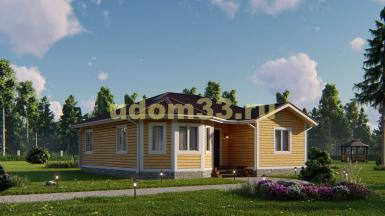 Одноэтажный каркасный дом 10.3х11.1. Проект ДК-97 «Мотив»