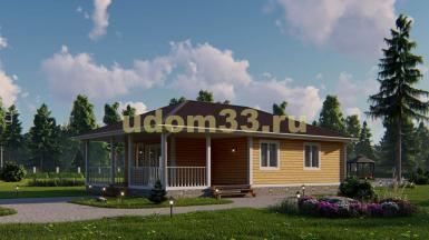 Одноэтажный каркасный дом 8.5х14.8. Проект ДК-99 «Тула»