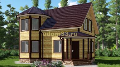 Дачный дом 7х10 под ключ. Проект ДКД-10