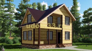 Дачный дом 6х8 под ключ. Проект ДКД-12