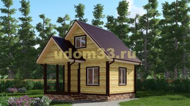 Дачный дом 6х6.5 под ключ. Проект ДКД-24