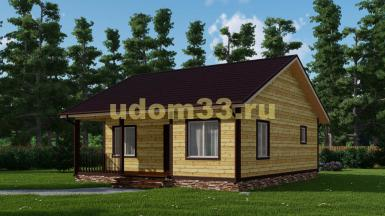 Дачный дом 9х10 под ключ. Проект ДКД-28