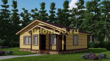 Одноэтажный дачный дом 10х10.5. Проект ДКД-31