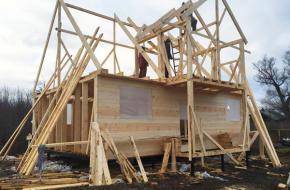 Строительство каркасного дома с мансардой