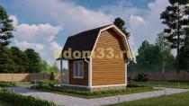 Дом из бруса 5х5 под ключ. Проект ДБ-14