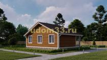 Дом из бруса 6.8х9 под ключ. Проект ДБ-16