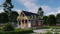 Дом из бруса 6х9.6 под ключ. Проект ДБ-19