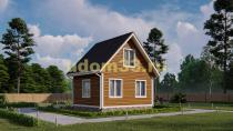 Дом из бруса 6х6.5 под ключ. Проект ДБ-20
