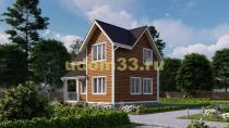 Дом из бруса 7х7 под ключ. Проект ДБ-26